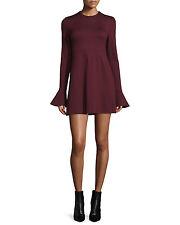 McQ Alexander McQueenLong-Sleeve Satin Sheath Dress, Port Orig:$455.00  Size - M