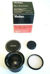 Vivitar 28mm 1:2.5 Wide Angle Manual Focus Lens for Canon FD w/ skylight filter