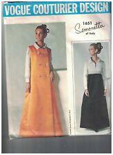 1651 Vintage Vogue Sewing Pattern Coat Dress Simonetta Couturier Design 1960s