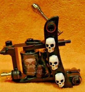 """Custom  Tattoo Machine....The Skullfukker"""""""
