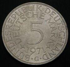 GERMANY (Federal Republic) 5 Mark 1971 G - Silver - aUNC - 605
