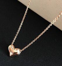 18K oro riempito collana con cuore REGALO minimalista Gioielli Damigella D'OnOre Senza Scatola