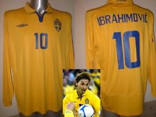 Sweden Umbro L/S Adult XL 10 ZLATAN IBRAHIMOVIC Shirt Jersey Football Soccer PSG