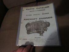 ORIGINAL PARTS CATALOG AVCO LYCOMING O-320 WCF SERIES AIRCRAFT ENGINES