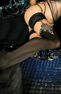 Ballerina 450 Hold Ups Thigh-Highs Black European Hosiery Luxury