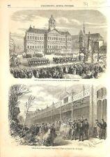 Cortège Palais roi Guillaume III Jardin Zoologique d'Amsterdam 1861 ILLUSTRATION