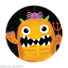 8 Boo Buddies Monsters Halloween Party Disposable SMALL Paper Plates