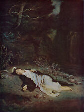 JOHN EVERETT MILLAIS 1895 Oil Painting SAINT STEPHEN Vintage Art 1930 Book Print