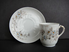 ANTIQUE CHARLES FIELD HAVILAND CFH GDM LIMOGES CREAM DEMITASSE CUP AND SAUCER
