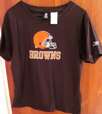 CLEVELAND BROWNS youth large tee kids 1980s T shirt plain Reebok size 14-16