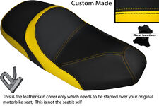BLACK & YELLOW CUSTOM FITS SYM JOYRIDE 125 200 EVO DUAL LEATHER SEAT COVER