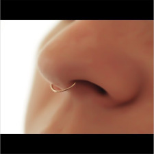 1PC Fake Septum Gold/Silver Clicker Surgical Steel Nose Ring Non Piercing Clip