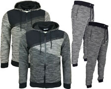 Mens Slim Fit Tracksuit Set Fleece Hoodie Top Bottoms Jogging Joggers Gym S -XL