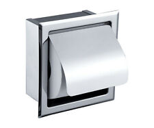 Stainless Steel Toliet Roll Paper Holder Inset Wall Mounted Bathroom Accessories