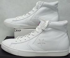 New Mens 11 Converse Star Player Pro Leather Mid White Shoes 136764C $65