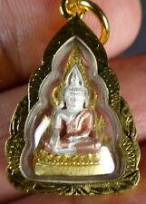 PHRA BUDDHA CHINNARAT AMULET with PHRA BUDDHA CHINNARAT PHA YANT. (B)
