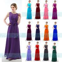 LACY CHIFFON BRIDESMAID EVENING PROM DRESSES SIZE 6-24 JS60 (SIZE 6-24)
