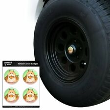 Hamster Eating Stash of Food Tire Wheel Center Cap Resin-Topped Badges Stickers