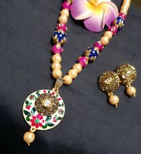 Ethnic Meenakari Delicate Indian Necklace Set/Indian Multi-colored Necklace Set