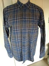 JAMES PRINGLE BRUSHED COTTON CHECKED BUTTON COLLAR L/S SHIRT SZ S SMALL VGC