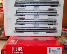 Rivarossi HRS2513 Etr 401 Set 4 Elements, Silver/Blue, Logo FS Tilt, DCC Sound