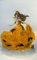 ORIGINAL Abstract Belle Beauty and the Beast Contemporary Acrylic Art Painting