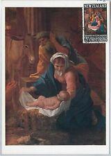 MAXIMUM CARD  - ART / CHRISTMAS : Nicolas Poussin - NEW ZEALAND 1968