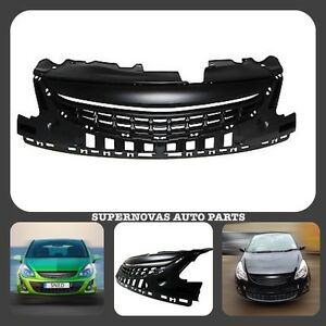Opel Vauxhall Corsa D 2011>2014 Facelift Black Debadged Front Radiator Grille