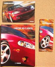 2003 Mazda Miata Brochure, Accessories Folder, Postcard
