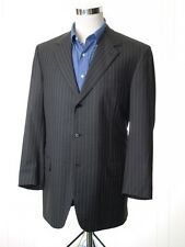 BRIONI Nomentano Gray Striped 100% Wool Mens Blazer Sport Coat Jacket - 46 L