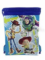 Disney Toy Story Drawstring String Backpack Sling Tote Bag Buzz - Blue
