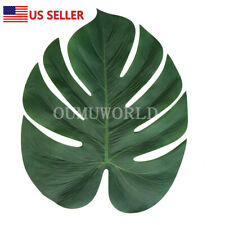 12 PCS Tropical Hawaiian Artificial Palm Leaves Jungle Foliage Luau Party Decor