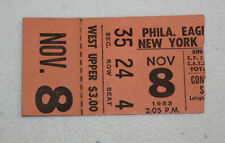 Philadelphia Eagles Ticket Stub | November 8 1953 | Bobby Thomason 4 TD 437 YDs