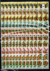 BM 12X SAN MARINO - MNH - FLORA- NATURE - FLOWERS - FRUITS - WHOLESALE