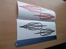 Diseño A Rayas Coche/Bicicleta Gráfico De Vinilo Pegatina Calcomanía x2