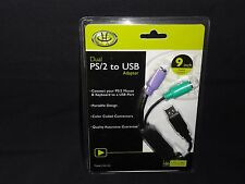 Dual PS/2 to USB Adapter by Gear Head