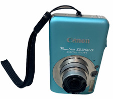 Canon PowerShot SD1200 IS Digital ELPH Camera 32GB Disc Battery  Ocean Blue