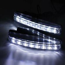 2PCS 8 LED DRL Fog Driving Daylight Daytime Running Light Car Auto Head Lamp kj