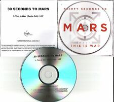 THIRTY SECONDS TO MARS this is war w/ EDIT UK PROMO DJ CD single USA Seller 30