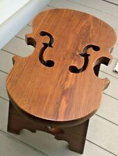 New listing Vintage Wood Violin Shaped Bench or Stool. Handcrafted. 1950. MidCentury Modern.