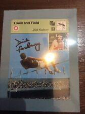 Autographed Signed Dick Fosbury High Jump Flip Sports Card Track And Field