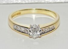 18ct Yellow Gold 0.20ct Diamond Solitaire Engagement Ring - size L