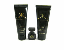 Kim Kardashian Gold for Women EDP Splash .25 oz + Lotion 3.4 + Gel 3.4 -Trio Set