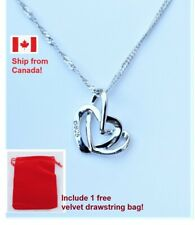 925 Sterling Silver Heart Pendant With Necklace And Gift Bag