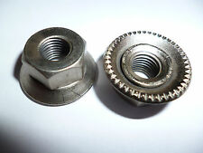 """Proper 1970s Cycle   5/16"""" front track pista steel axle nuts x 1PR"""