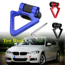 Universal Car SUV Truck Bumper Ring Track Racing Style Tow Hook Look  //