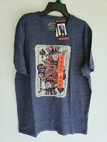 LUCKY BRAND Men's Graphic T Shirt, Spade King Navy