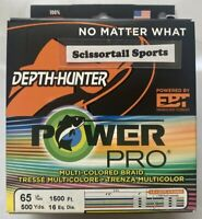 PowerPro Depth Hunter Offshore Spectra Braided Line Metered-Pick Test//Spool Size
