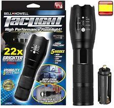 Linterna de alta potencia con zoom waterproof táctica policia TACTIGHT