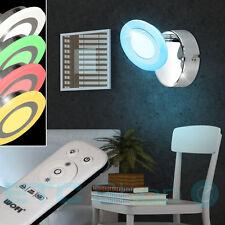 Led Applique Murale Chrome Télécommande Spot RGB Changement de Couleur Miroir